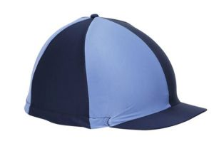 Shires Hat Cover - Navy/Pale Blue