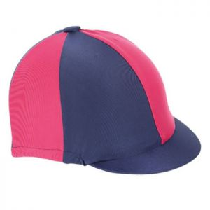 Shires Hat Cover - Navy/Raspberry