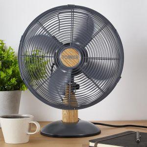 Tower Scandi Desk Fan, 12in - Grey