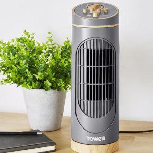 Tower Scandi Tower Fan, 14in - Grey