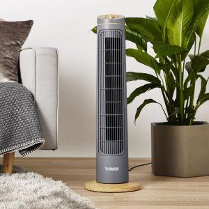 Tower Scandi Tower Fan, 29in - Grey