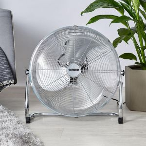 Tower Velocity Fan, 18in - Chrome