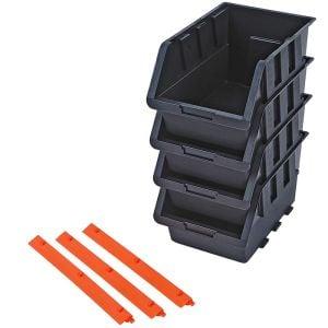 Tactix Storage Tray Bin Set - 4 Piece