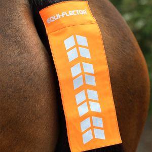Shires EQUI-FLECTOR® Tail Strap – Orange