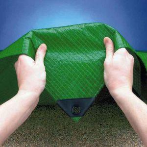 Tarpaflex Mono Cover Tarpaulin, Green - 4m x 10m