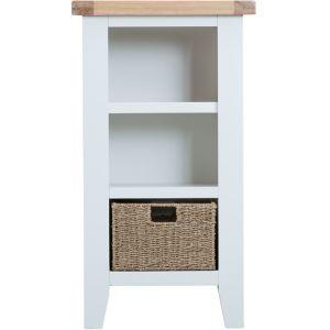 Taunton White Narrow Bookcase