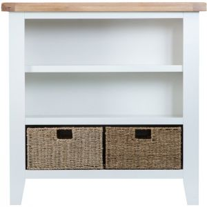 Taunton White Wide Bookcase