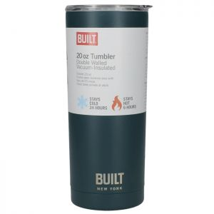 Built Double Walled Stainless-Steel Travel Mug, 565ml – Teal