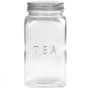Tala Embossed Glass Tea Canister