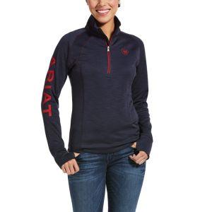 Ariat Women's Tek Team 1/2 Zip Sweatshirt – Navy Heather
