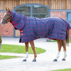 Shires Tempest Plus 200 Stable Combo Rug - Navy & Red Check