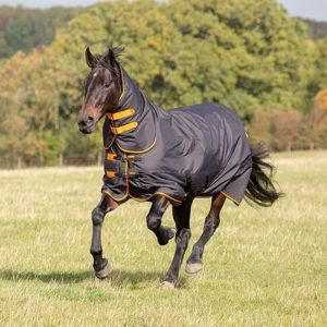 Shires Tempest Original 200 Turnout Combo Rug - Black/Orange