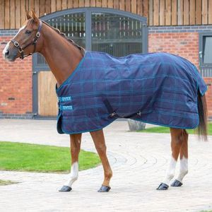 Shires Tempest Plus 100 Stable Rug -Navy Check