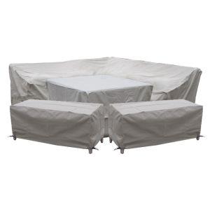 Bramblecrest Tetbury Square Modular Dining Set Protective Cover Set