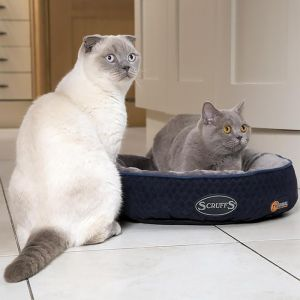 Scruffs Thermal Self Heating Cat Bed – Navy