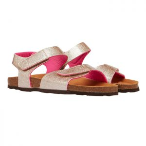 Joules Junior Tippy Toes Strapped Sandals - Rose Gold