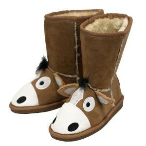 LazyOne Toasty Toez Kids Slippers – Horse