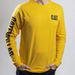 CAT Men's Trademark Banner Long Sleeve T-Shirt - Yellow