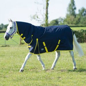 Gallop Trojan 200 Combo Turnout Rug - Navy/Yellow
