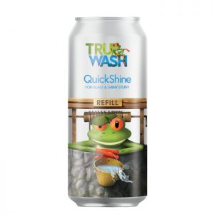 TruWash QuickShine Glass & Shiny Stuff Cleaner Top-Up Can – 330ml