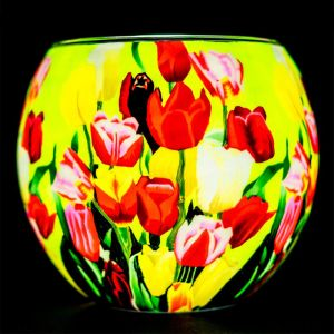 Benaya Art Ceramics Tulips Tealight Holder