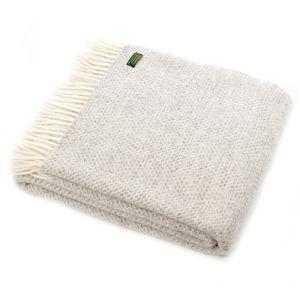 Tweedmill Beehive Throw Blanket - Grey