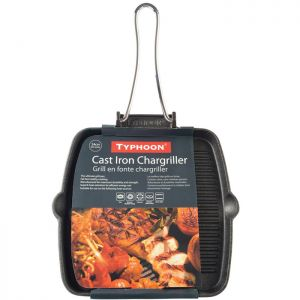 Typhoon Cast Iron Square Chargriller Pan - 24cm
