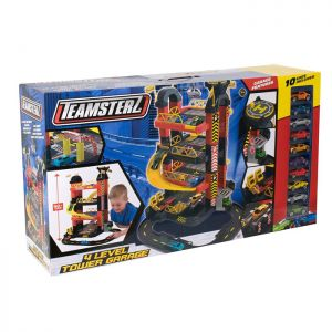 Teamsterz TZ 4 Level Tower Garage with 10 Toy Cars