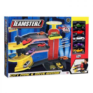 Teamsterz TZ City Park and Drive Garage Toy with 5 Cars