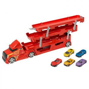 Teamsterz TZ Launcher Transporter and 5 Cars Toy