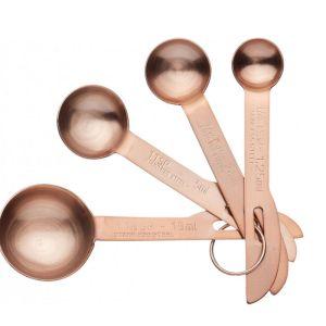 Master Class Copper Effect Measuring Spoon Set - 4 Piece