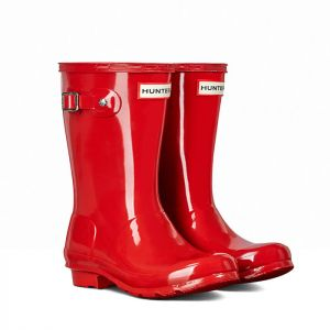 Hunter Original Children's Gloss Wellington Boots - Military Red
