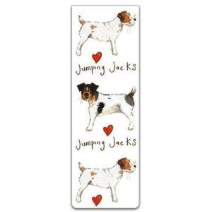Alex Clark Jumping Jacks Dog Magnetic Bookmark
