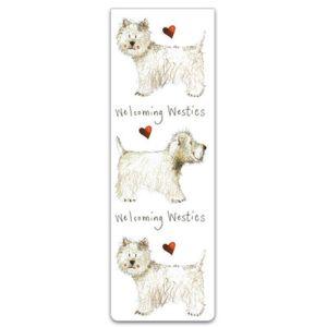 Alex Clark Welcoming Westies Magnetic Bookmark