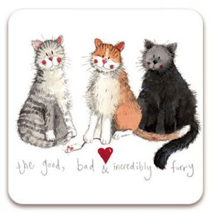 Alex Clark The Good The Bad and The Incredibly Furry Cat Fridge Magnet