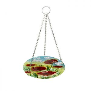 Smart Garden Poppy Glass Hanging Bird Bath