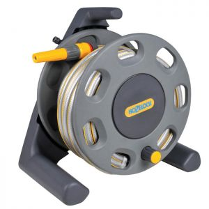 Hozelock 2412 Freestanding Hose Reel Plus Hose - 25m