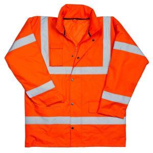Utah Hi-Vis Motorway Jacket - Orange