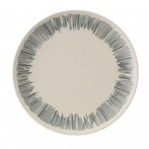 Vango Bamboo Dessert Plate - Grey Stripe