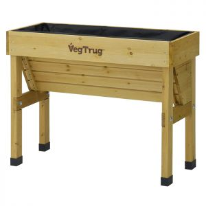 VegTrug Small Wall Hugger Planter, 1m – Natural
