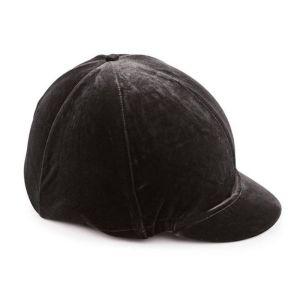 Shires Velveteen Hat Cover - Black
