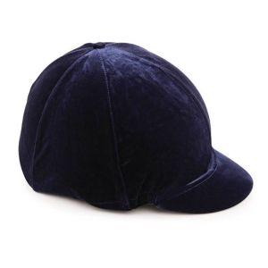 Shires Velveteen Hat Cover - Navy