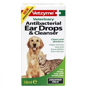 Vetzyme Antibacterial Ear Drops & Cleanser - 18ml