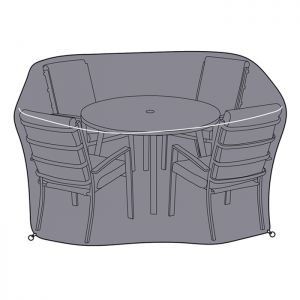 Hartman Vienna 4 Seater Round Dining Set Protective Cover