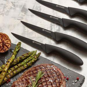Viners Everyday Set Of 6 Steak Knives – Black