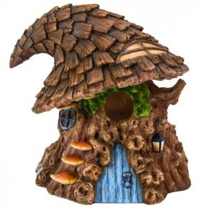 Miniature World Witches Hat Tree Birdhouse