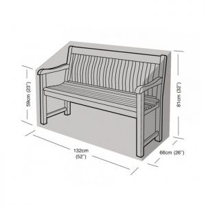 Garland 2 Seater Bench Cover - Black