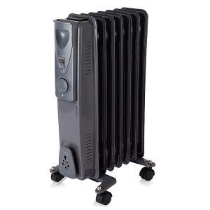 Warmlite WL43003YDT Oil Filled Radiator with Timer, Dark Titanium - 15000w