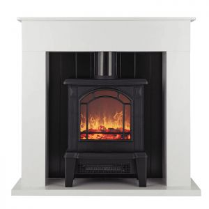 Warmlite 1800W Ealing Compact Electric Stove Fire Suite