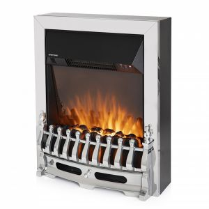 Warmlite 2000W Whitby Electric Fire Inset with Remote – Chrome